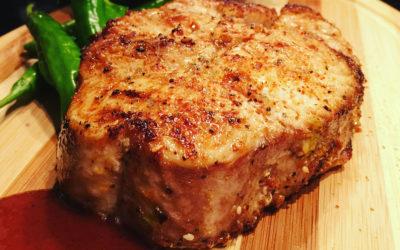 Encrusted Crocodile Steak